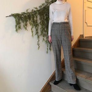 Vintage Plaid Trousers